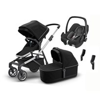 Thule Sleek duovagn + Maxi-Cosi Rock babyskydd 0-12 kg & adapter