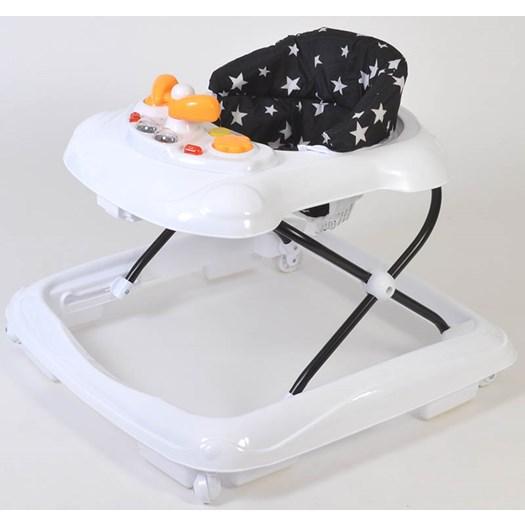 2Me lära-gå-stol Italy, vit/svart