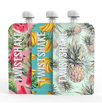 Twistshake squeeze bags 220 ml fruit, 3-pack