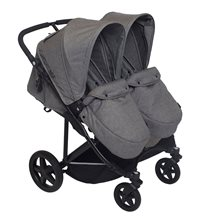 Basson Baby Duo Twin sittvagn, grå