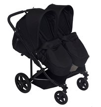 Basson Baby Duo Twin sittvagn, svart