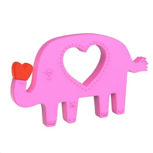 Manhattan Toy silikonbitleksak elefant