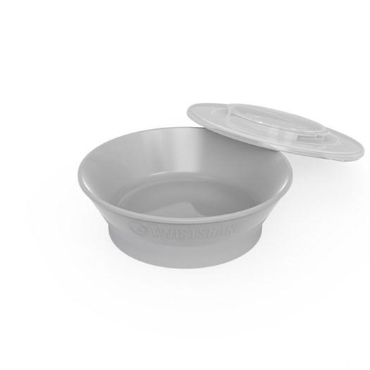 Twistshake djup tallrik (6+m), grå