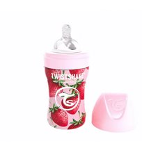 Twistshake Anti-Colic rostfri flaska 260 ml, strawberry