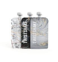 Twistshake squeeze bags 220 ml marble, 3-pack