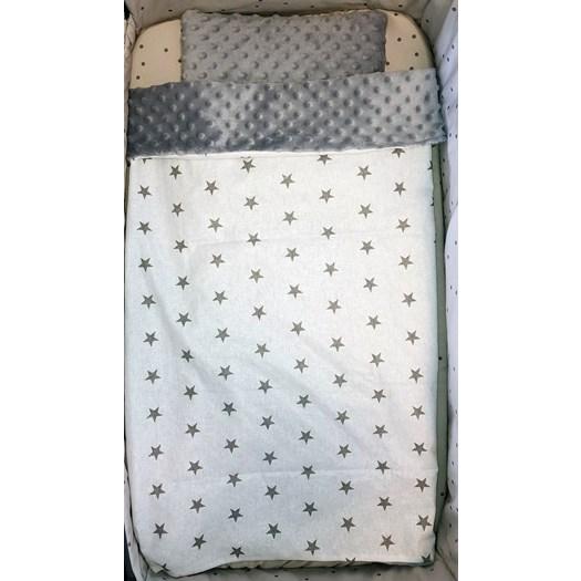 Basson Baby startpaket vagn/vagga, grå stjärna