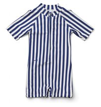 Liewood UV-dräkt/jumpsuit Max Swim stl 68/74, stripe navy