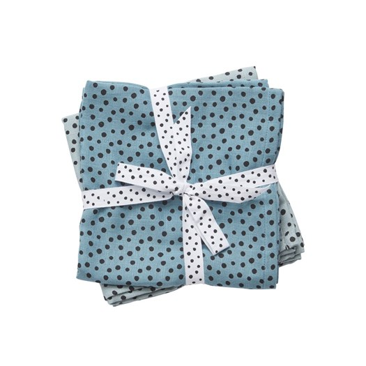 Done by Deer burp cloth 2-pack, happy dots blue