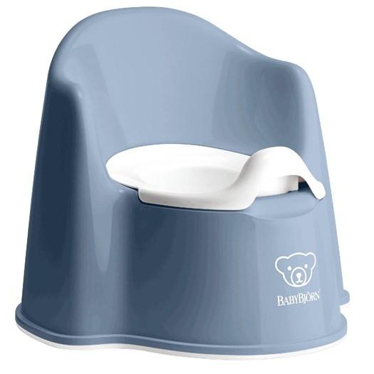 Babybjörn pottstol, gråblå/vit