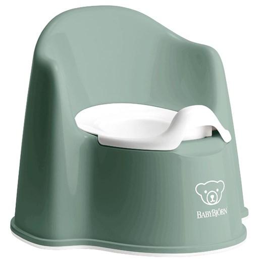 Babybjörn pottstol, grågrön/vit
