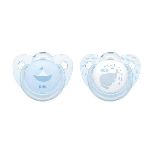NUK napp Rose & Blue silikon 2-pack 6-18 mån, baby blue