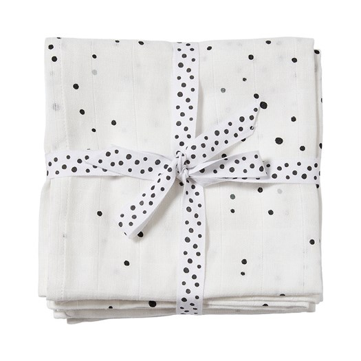 Done by Deer burp cloth 2-pack, dreamy dots white