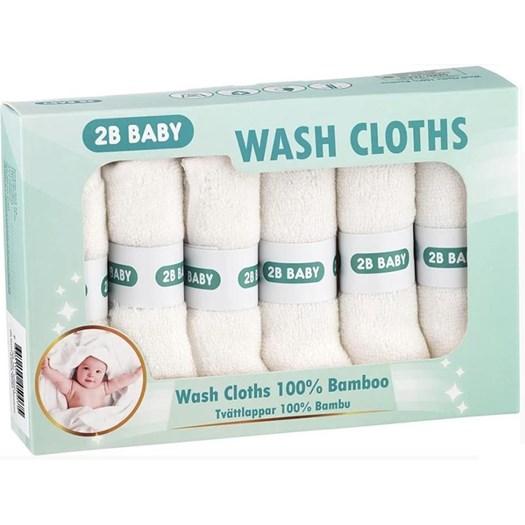 2B Baby tvättlapp bambu 6-pack, vit
