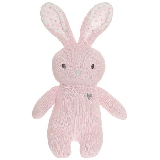 Teddykompaniet Cozy Knits kanin, rosa