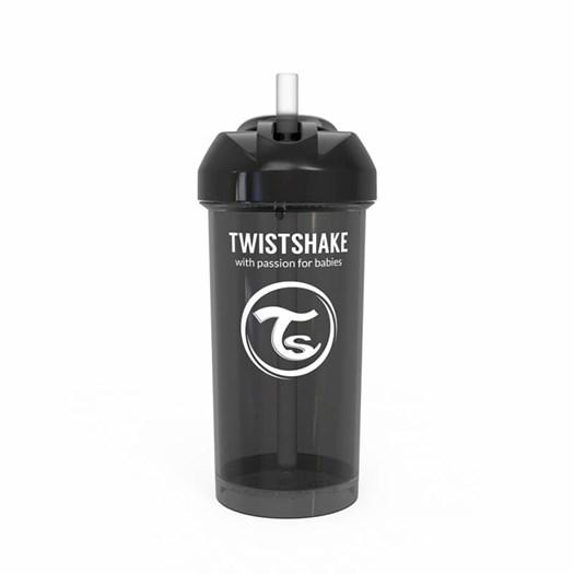 Twistshake sugrörsflaska 360 ml, svart