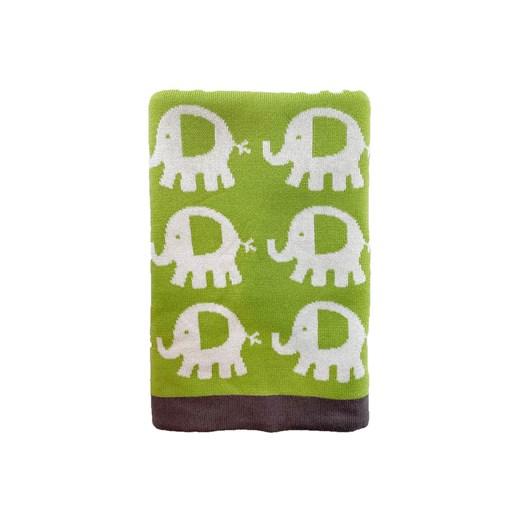 Carlobaby filt bomull, elefant grön