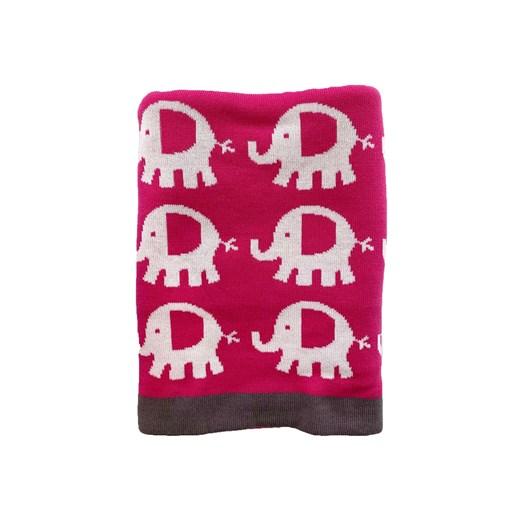 Carlobaby filt bomull, elefant rosa