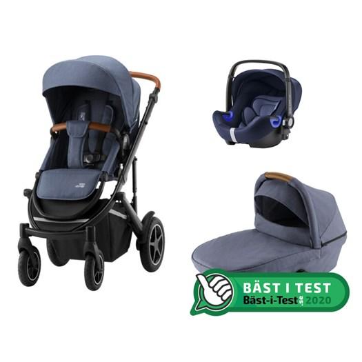 Britax Smile 3 duovagn + Baby-Safe2 i-Size babyskydd
