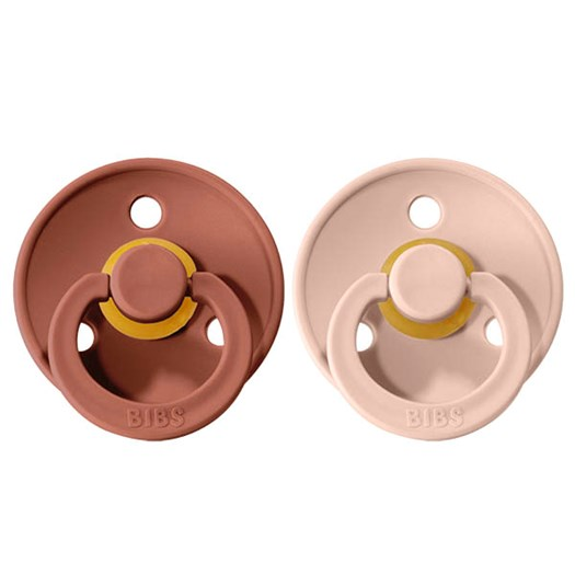 BIBS napp Colour 2-pack 0-6 mån, woodchuck/blush