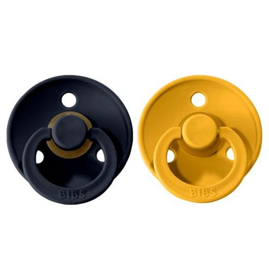 BIBS napp Colour 2-pack 0-6 mån, mustard/dark denim