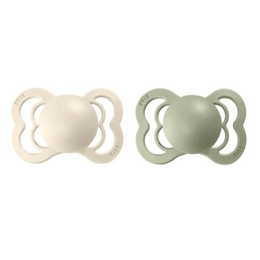 BIBS napp Supreme latex 2-pack 0-6 mån, ivory/sage