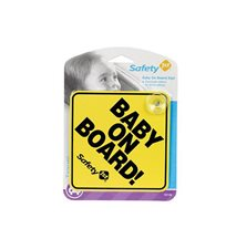 Safety 1st baby on board, gul
