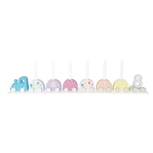 Jabadabado födelsedagståg ljusstake, multifärg