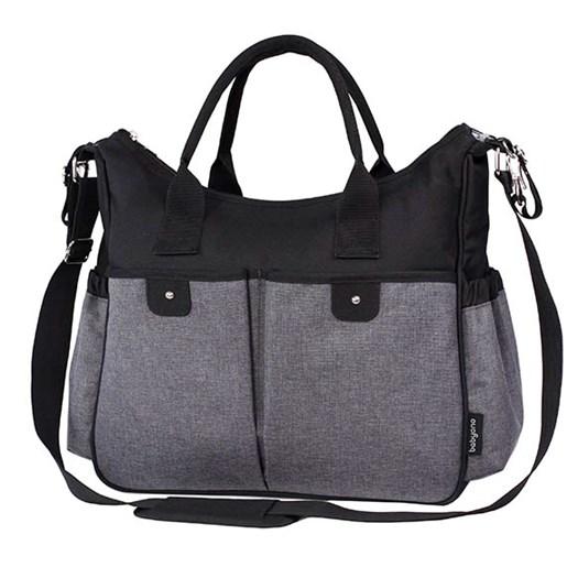 BabyOno skötväska, svart/grå