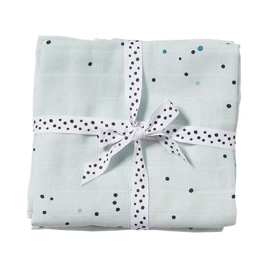 Done by Deer burp cloth 2-pack, dreamy dots blue