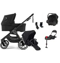 Emmaljunga NXT90 F ltd edt duovagn, all black + Britax Primo + bas