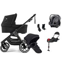 Emmaljunga NXT90 ltd edt duovagn, all black + Britax Primo + bas