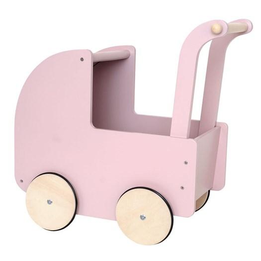 Jabadabado dockvagn trä, rosa