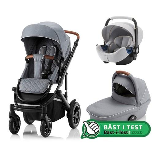 Britax Smile 3 duovagn + Baby-Safe2 i-Size babyskydd, ldt edt nordic grey
