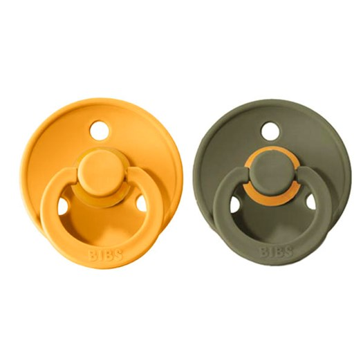 BIBS napp Colour 2-pack 0-6 mån, honey bee/olive