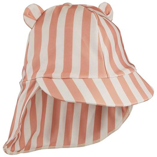 Liewood solhatt Senia stl 9-12 mån, stripe coral blush/creme, 9-12 mån