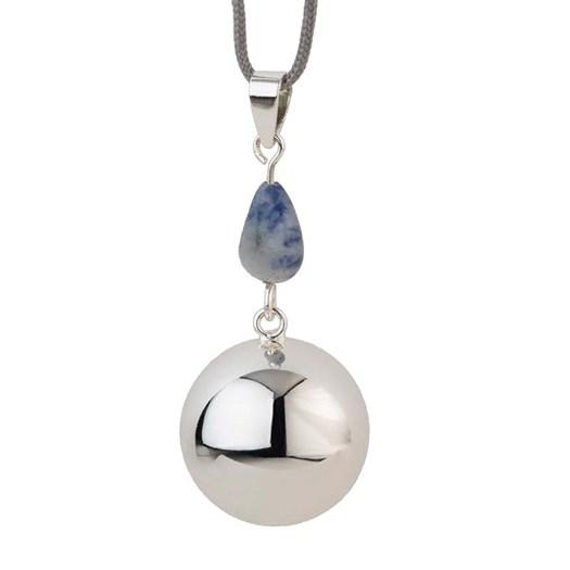 Gravidsmycke Bola blå sten silver