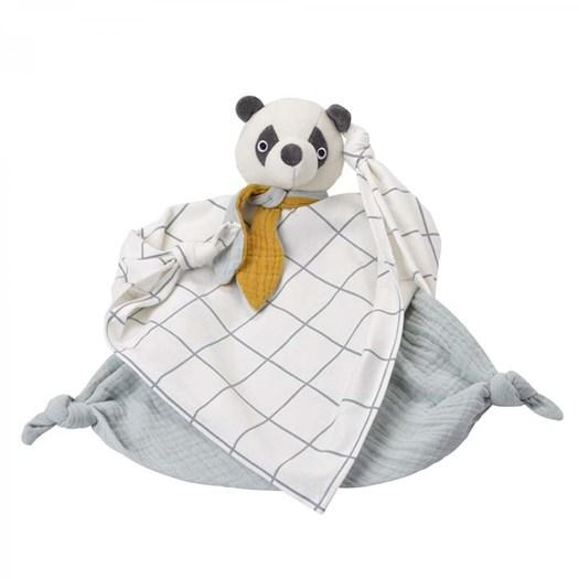 Kikadu snuttefilt i eko-bomull, panda