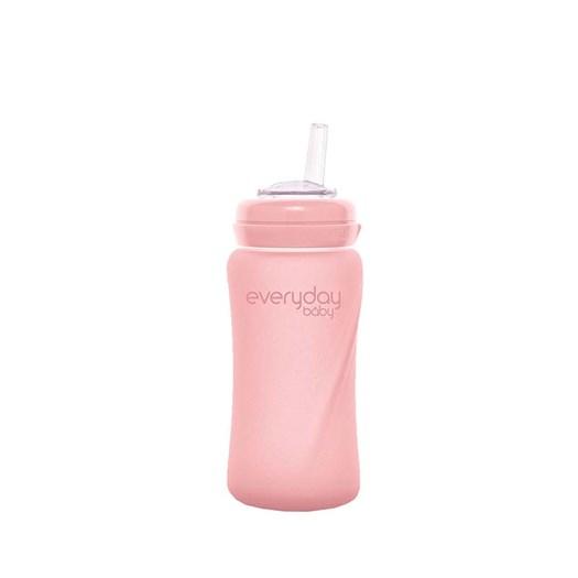 Everyday Baby sugrörsflaska glas Healthy+ 240 ml, rose pink