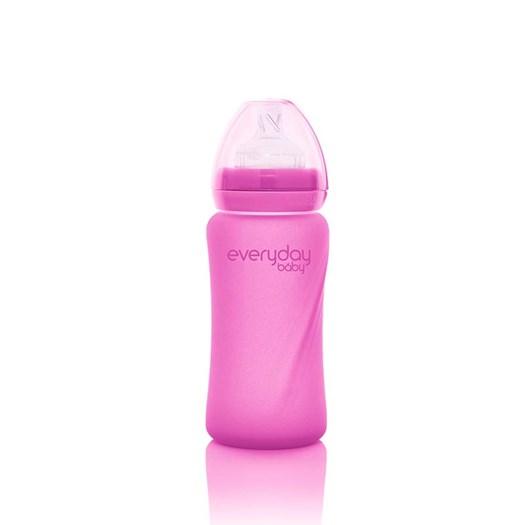 Everyday Baby nappflaska med värmeind Healthy+ 240 ml, rosa