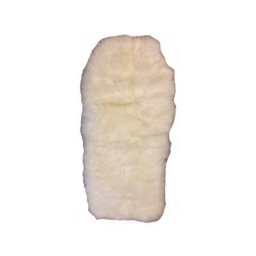 Bozz sittvagnsdyna lammskinn, vit långhårig