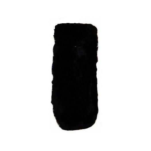 Bozz sittvagnsdyna lammskinn, svart långhårig