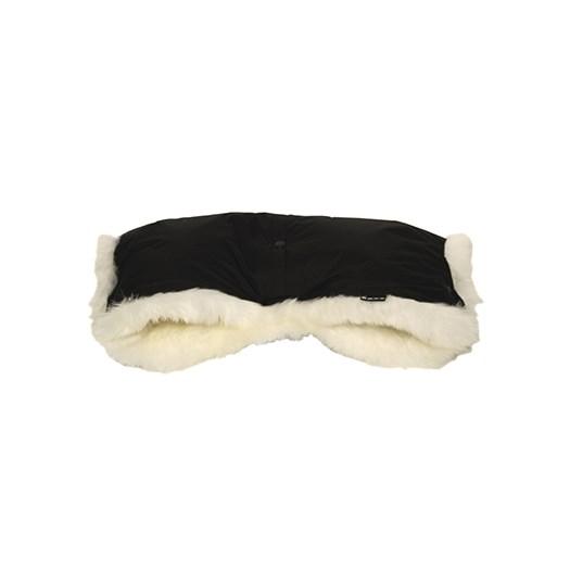 Bozz handmuff lammskinn, svart/vit