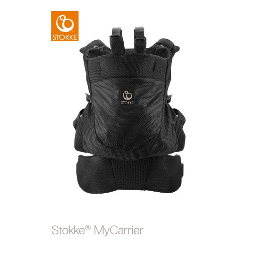 Stokke MyCarrier Back Carrier, black mesh