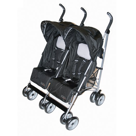 Basson Baby Travel Twin paraplysulky, svart