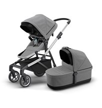 Thule Sleek duovagn, grey melange/silver chassi